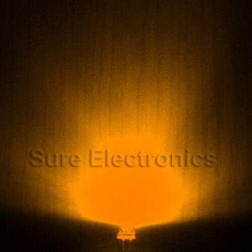 100 pcs 3mm Round Orange//Amber Superbright Leds Lamp Light 20000MCD 10 pcs