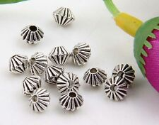 130Pcs Zinc Alloy Spacer Beads Findings 4x5mm(Lead-free)