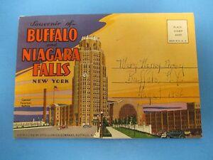 Details about Vintage Souvenir Postcard Folder 1936 New York Buffalo  Niagara Falls S449