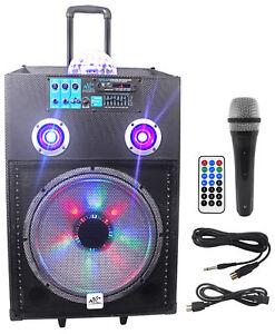 """Bien éDuqué Nyc Acoustics N15ar 15"""" 600 W Rechargeable Powered Bluetooth Party Haut-parleur W Mic-afficher Le Titre D'origine Disponible Dans Divers ModèLes Et SpéCifications Pour Votre SéLection"""