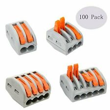 Lever Nut Assortment Conductor Compact Wire Connectors 100 Pack Variety