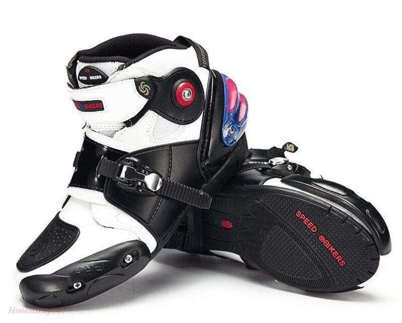 Motorcycle Uomo Splice Color PRO-BIKER NEW Sports Racing Riding Boots Shoes c8