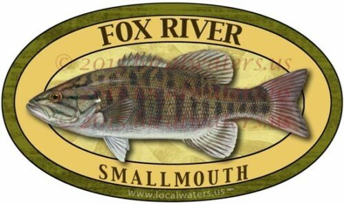 Fox River StickerSmallmouth Bass Fishing decalGUARANTEED 3 yrs no fade