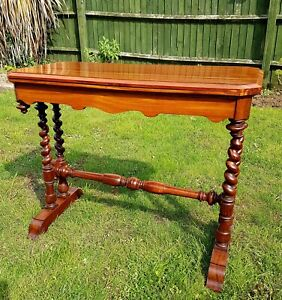 Antiques Dynamic Goncalo Alves Or Zebrawood Card Table By C Hindley & Sons