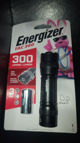 energizer tactical 300 lumens light Ipx4 lithium