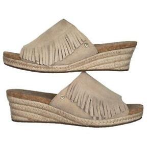 UGG Australia Danes Suede Espadrille Wedge Sandal Size 7