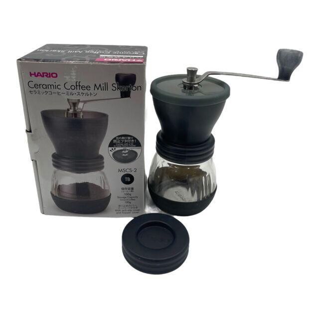 "Hario Ceramic Coffee Mill ""Skerton Plus"" Hand Grinder Bowl with Anti-Slip Base"