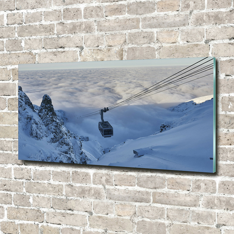 Cuadros de pa rojo  de cristal pantalla de cristal de impresión sobre vidrio de 140 x 70 paisajes decorativos de Kaspars Kogel 803450