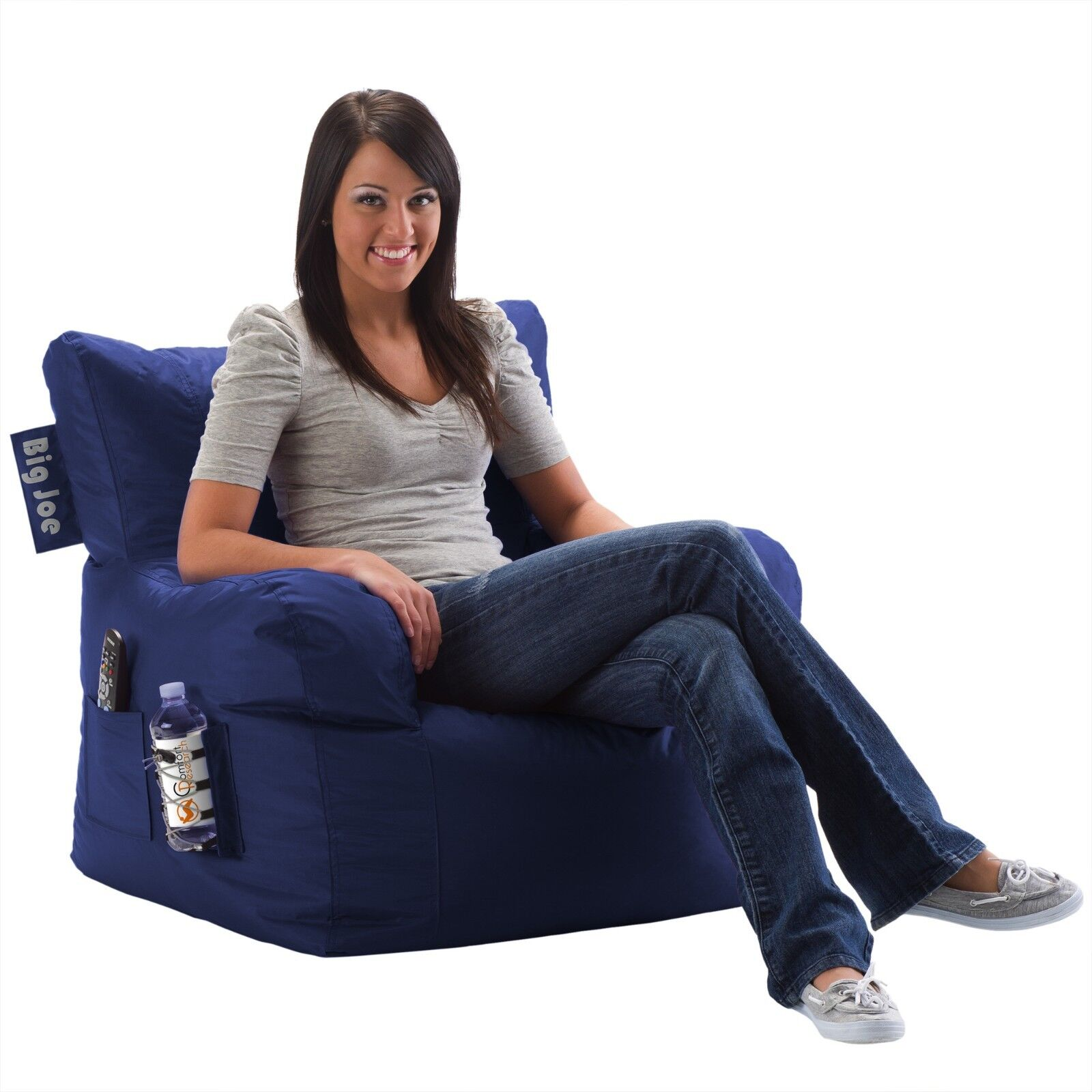 Phenomenal Details About Pocket Remote Control Drink Holder Home Relax Bean Bag Big Joe Chair Multi Use Beatyapartments Chair Design Images Beatyapartmentscom
