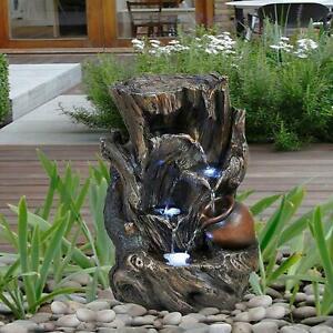 Registro De árbol Interior Al Aire Libre Poliresina Fuente