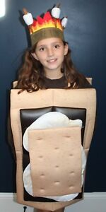S-039-Mores-Campfire-Marshmallow-Chocolate-Kids-Boutique-Costume-Chocolate-4-10-NEW