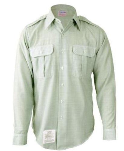 Various Sizes Men/'s Army Class A//B Long Sleeve Green Dress Shirt