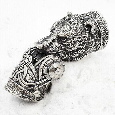 Silver Paracord Bracelet Buckle Shackle GRIZZLY BEAR Paracord Bracelet Bead CooB