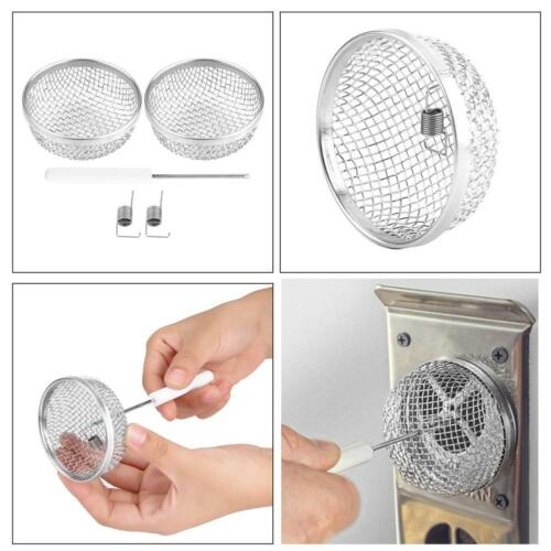 Stainless Steel Vent Bug Furnace Screen Cover for RV w// Spring Fasteners MDF