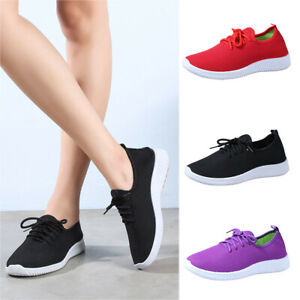 Women-039-s-Mesh-Flat-with-Cotton-Casual-Stripe-Sneakers-Loafers-Walking-Soft-Shoes
