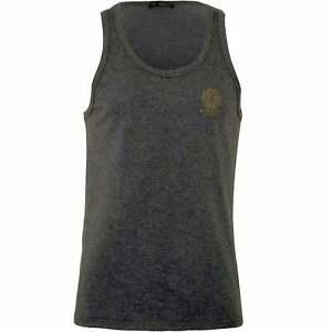 Versace-Iconic-Men-039-s-Tank-Top-Vest-Grey-Melange