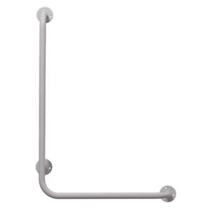 Winkelgriff 60/40 cm für barrierefreies Bad links montierbar weiß ⌀ 25 mm Griff