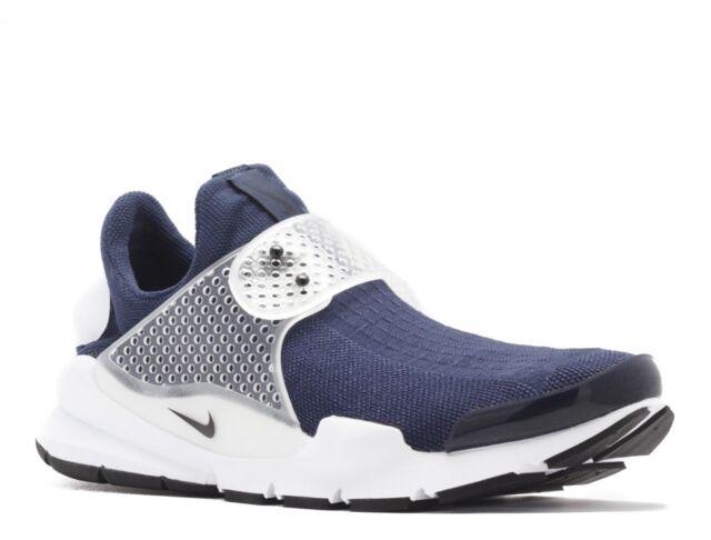 new arrival d2eac ddfad Nike Sock Dart KJCRD Sz 12 Midnight Navy Black Slip on Running Shoe 819686  400