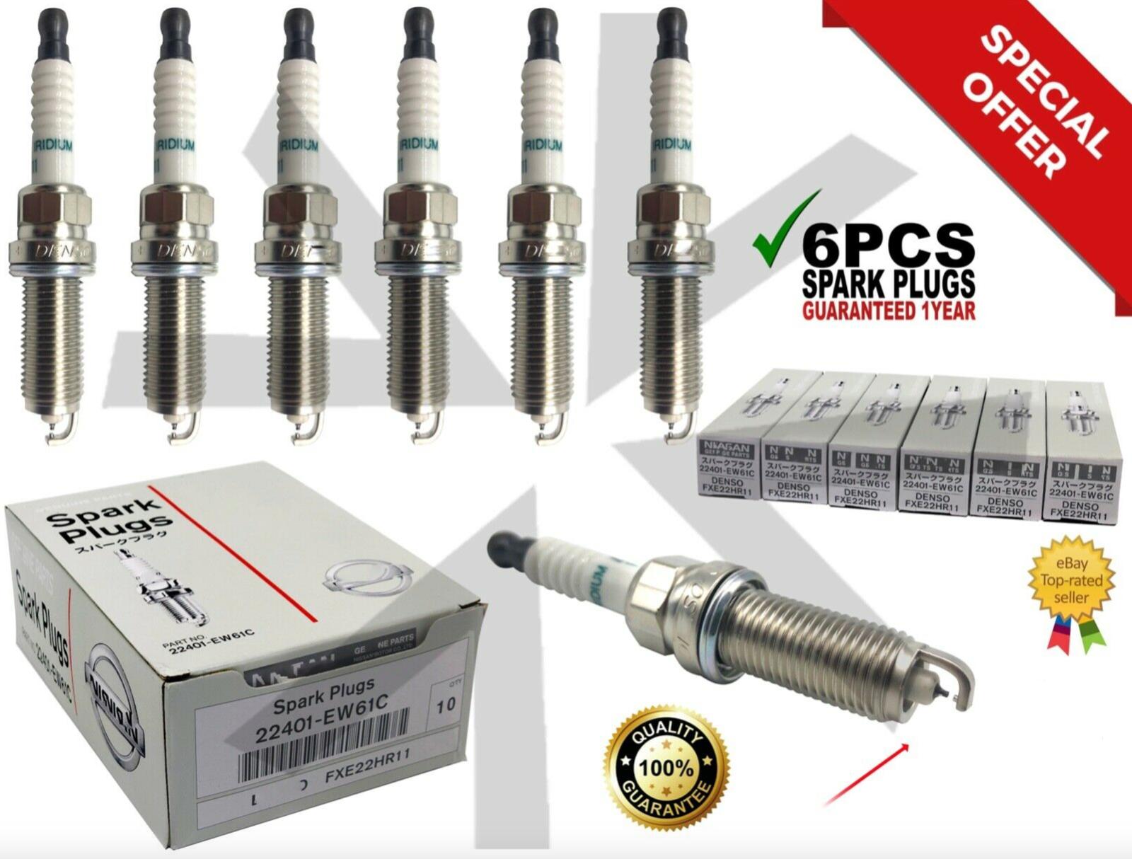 new 6 pcs Iridium Spark Plugs G35 FXE22HR11 22401-EW61C fit for Nissan Altima