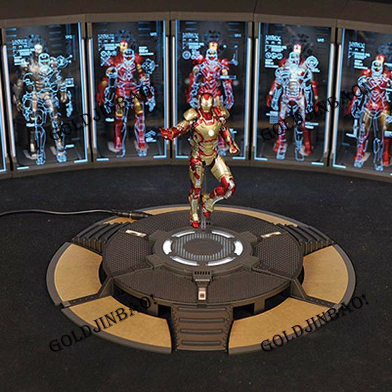 Iron Man Armor Armor Armor Testing WorkShop Figure Work Stand Platform 1 12 Scale Model New ddb2bc