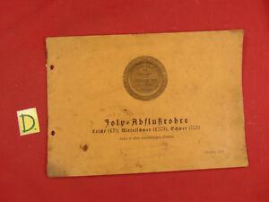 In Obligatorisch Joly Abflussrohre Eisenwerk Joly Ausgabe 1934 Ca.17x24cm Ausgezeichnete QualitäT
