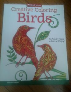 Image Is Loading Creative Coloring Birds Art Activity Pages To Relax