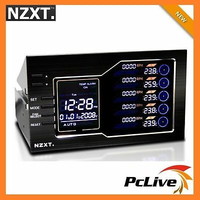 NZXT Sentry LX Fan Controller LCD Screen Monitor Speed Temperature Dual 5.25""