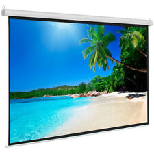 Leadzm 100 Projection Screen 43 Projector Manual Pull Up Screen Matte White