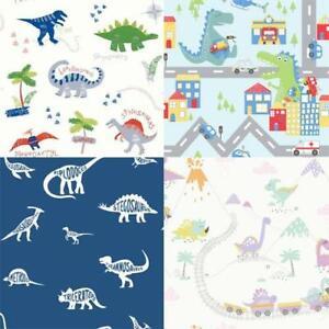 Kids-Nursery-Fun-Dinosaur-wallpaper-Dino-Town-Doodles-Dictionary-Road