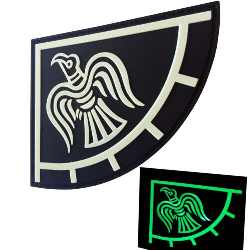 norse viking raven banner glow dark GITD morale odin god of écusson hook patch