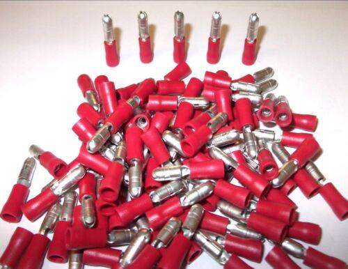 Aislado Terminales 100 X Rojo Balas los conectores eléctricos Crimp Alta Calidad