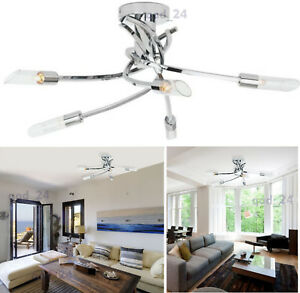 Ceiling light 5 arm way bulb living room lounge chrome fitting image is loading ceiling light 5 arm way bulb living room aloadofball Choice Image