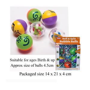 6 xroll & Spin BULLE BOULES (14x21x4) cm pour bébé jouet enfant cadeau naissance & up-afficher le titre d`origine 4ypCdZZ6-07184650-308952560