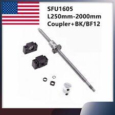 Ballscrew Sfu1605 L250mm 2000mm Ball Screw Amp Bkbf12 End Support Coupler Cnc