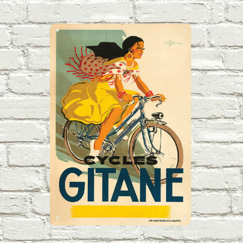 Cycles Gitane cycling metal Wall Sign Retro Vintage Advertisement