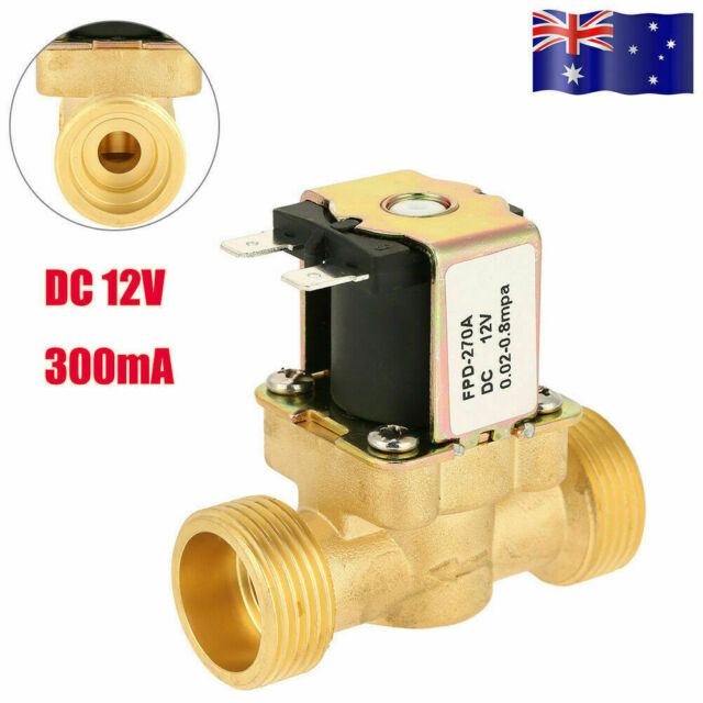 Solenoid Valve 12V 0.02~0.8MPa Water Air Fuels Gas 2-Way Normal Closed Brass HOT