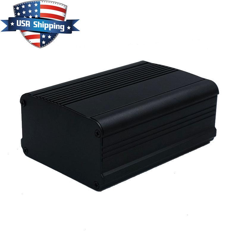 150*105*55mm Black Aluminum Instrument Box PCB Enclosure Electronic Separable