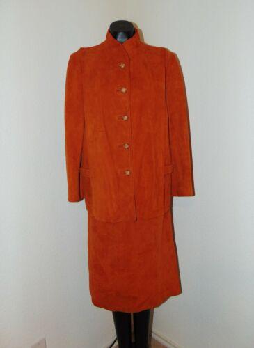 80s90s Vintage Amazing Leather Jacket Window Pane Embellished Gold Hardware Medium Burnt Orange Red