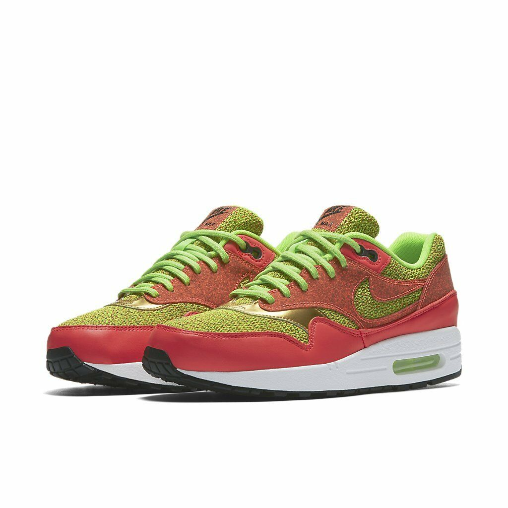 Women's Air Max 1 SE Ghost Green / 881101-300 / Nike Foam Hot Punch White