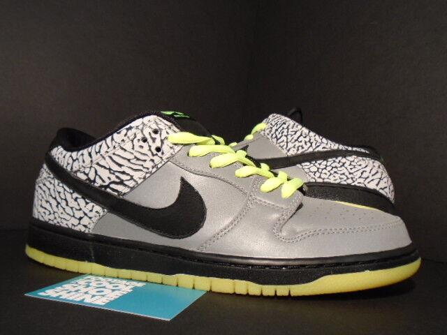 Nike Dunk Low Premium SB QS DJ CLARK KENT 112 SILVER BLACK VOLT CEMENT GREY 10 Brand discount