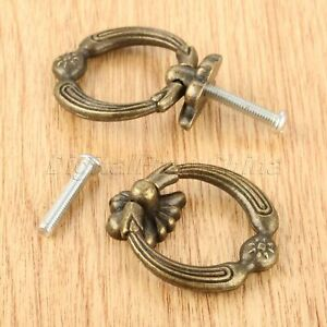 Durable Furniture Hardware Jewelry Box Drawer Cabinet Ring Pull Handle Knobs
