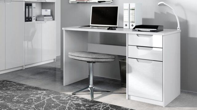 SixBros Computerschreibtisch Schreibtisch Hochglanz Schwarz S-202A//736