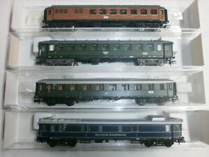 Convolute-4-Fleischmann-Passenger-Cars-8132K-8675K-8841K-8853K-Boxed-Scale-N