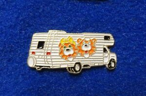 Details about Vintage 1990's Class C RV Cartoon Tiger Cats on Side Camper  Van Truck Lapel Pin