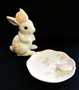 VTG 1988 St Michael Rabbit Ring Holder And Trinket Dish | FREE Delivery UK*