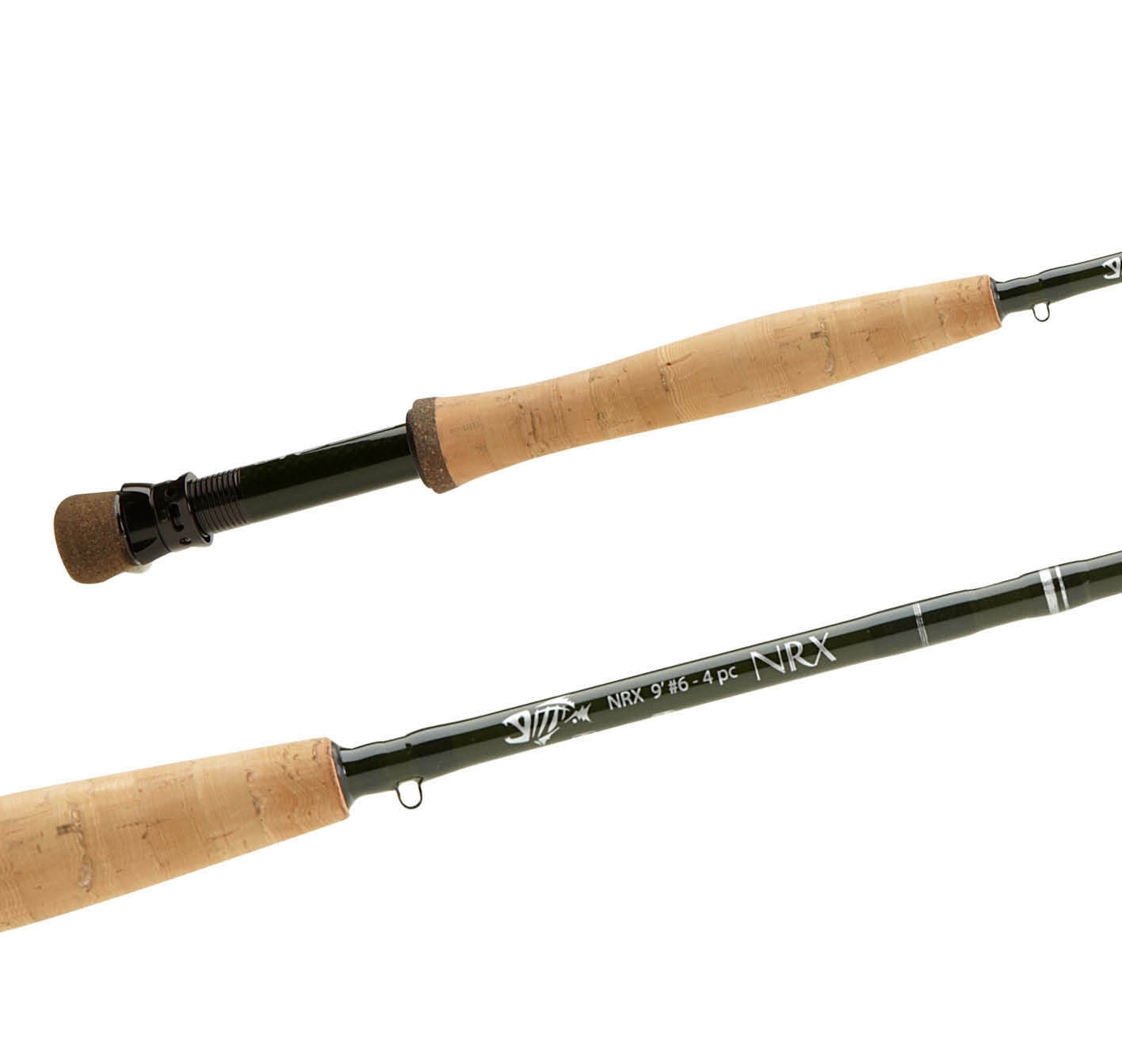 NEW G. LOOMIS NRX TROUT 10864 G 9'  6 WEIGHT 4 PC. FLY ROD verde FREE  100 LINE