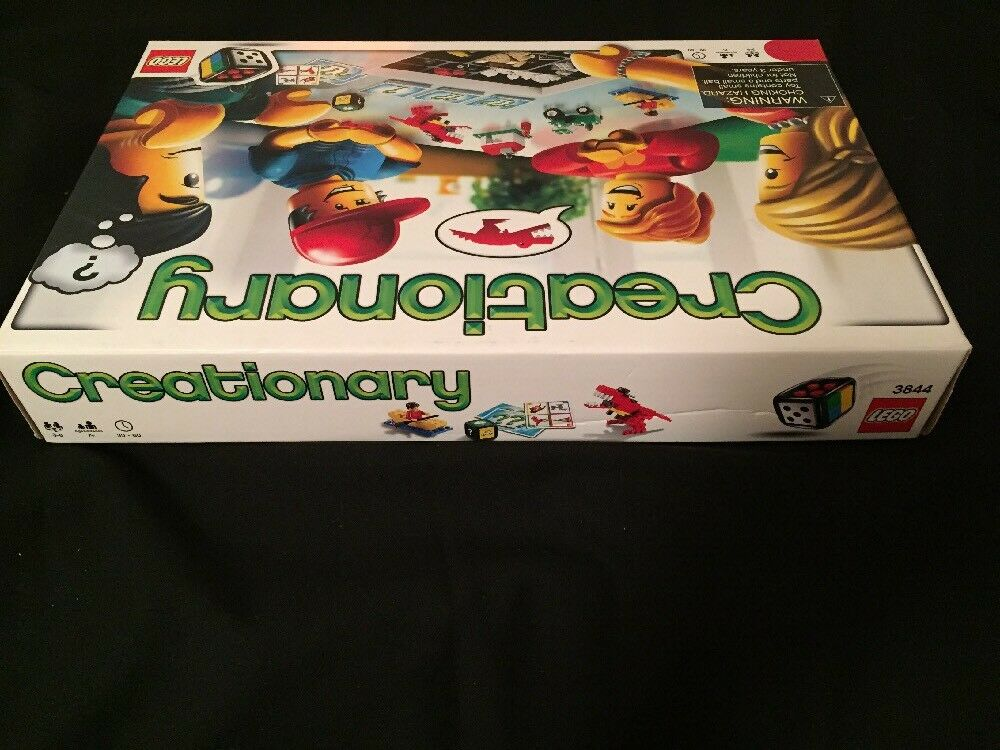 LEGO CREATIONARY Board Game Building Set 3844 100% COMPLETE retired retired COMPLETE discontinued d6b7cc