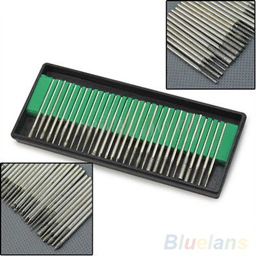 Easy-using 30pcs Diamond Burr Bits Drill Engraving Carving Rotary Tool