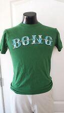 Billabong Bong Skateboard Surfing Beach Green T Shirt Small Vintage Print Rare