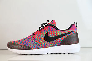 Details about Nike Roshe NM Flyknit SE Bright Crimson Multicolor 816531 600 8 13 1